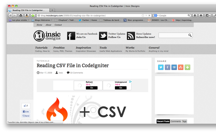 Awesome tutorials to master CodeIgniter 9