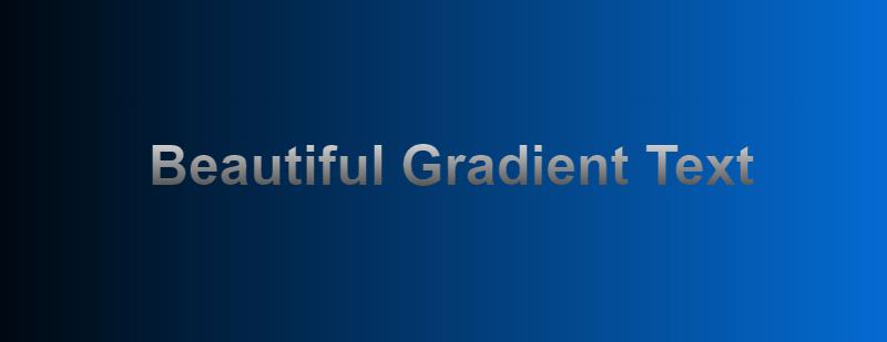 CSS Gradient Text