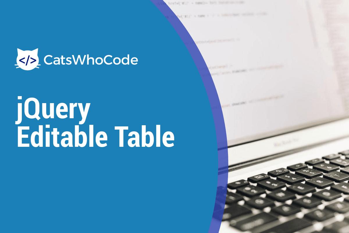 jQuery Editable Table