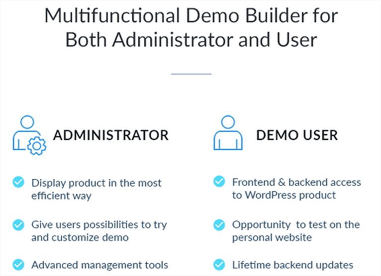 Effective WordPress solutions for building product demo 4