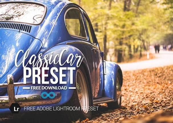 free lightroom preset, Classic car