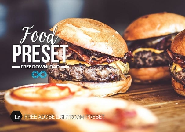 free lightroom preset, food lightroom preset