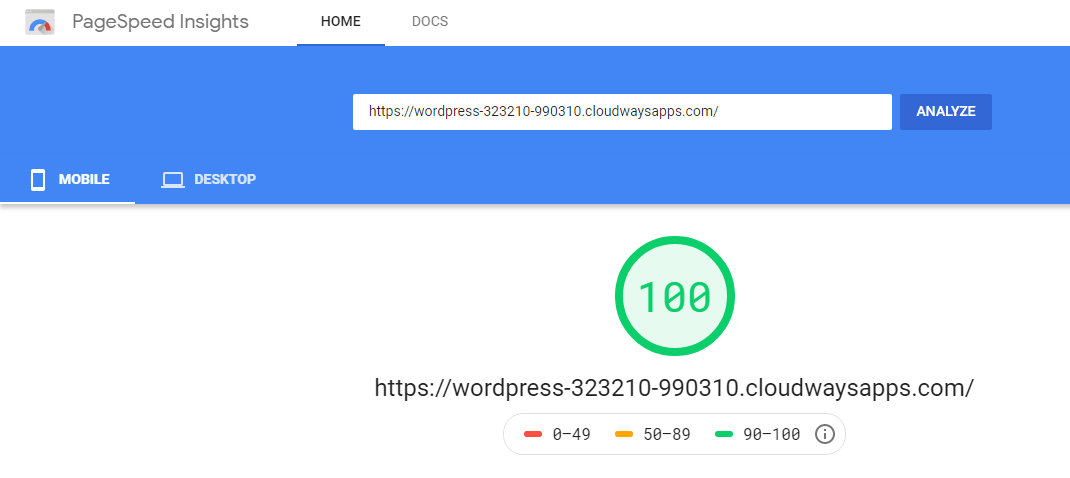 Cloudways Page Speed