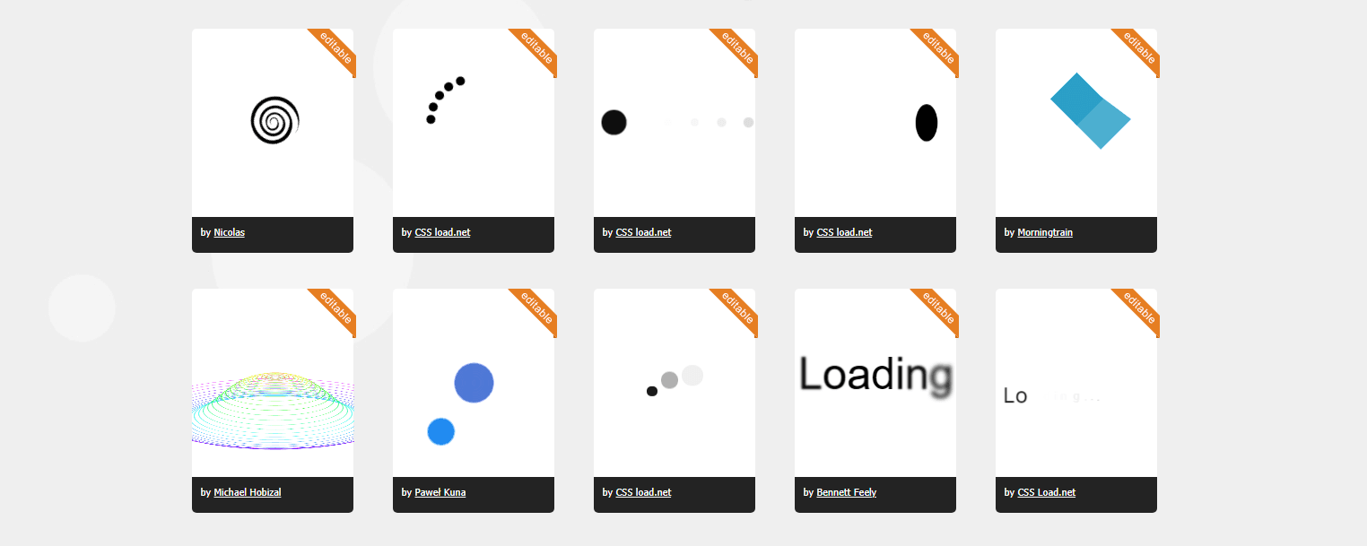 The Best CSS Spinners & Loaders 3