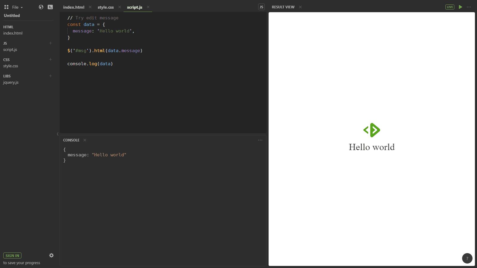 Jouer le code