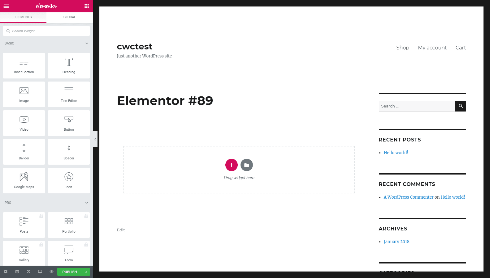 Elementor Page