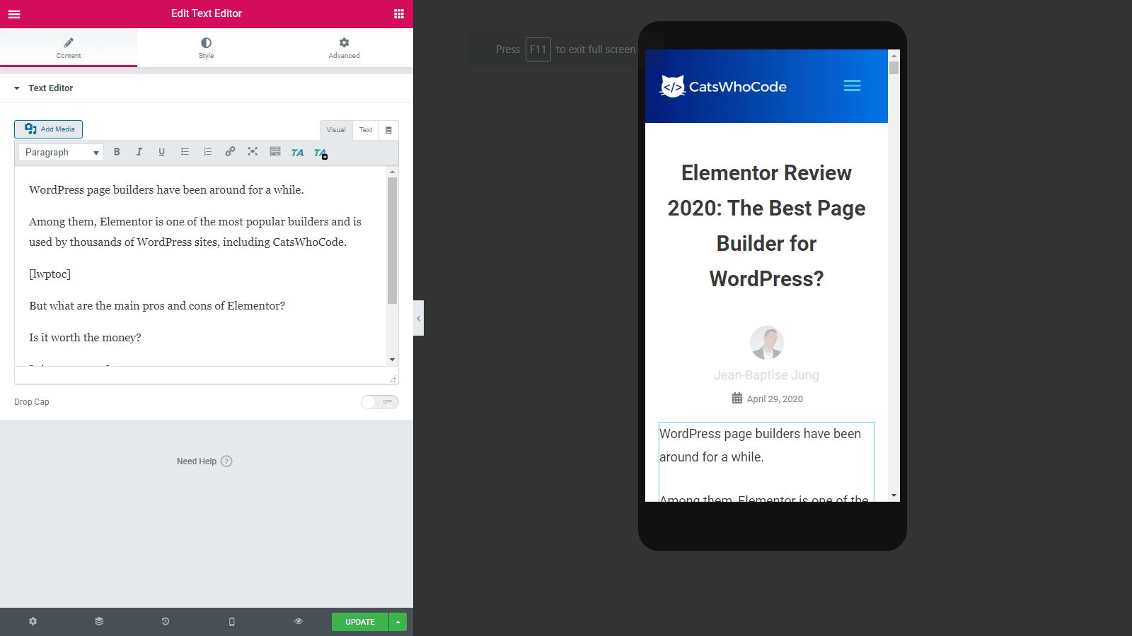 Elementor Review 2020: The Best Page Builder for WordPress? 2
